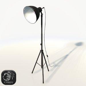 3d realistic lamp model
