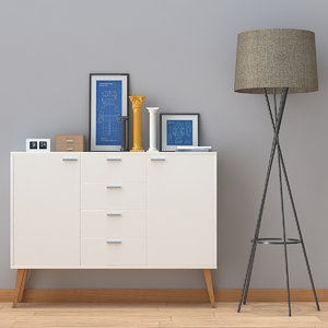 3d model console cabinet decorate 1 wood