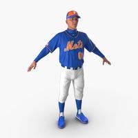 baseball player mets 2 3d x
