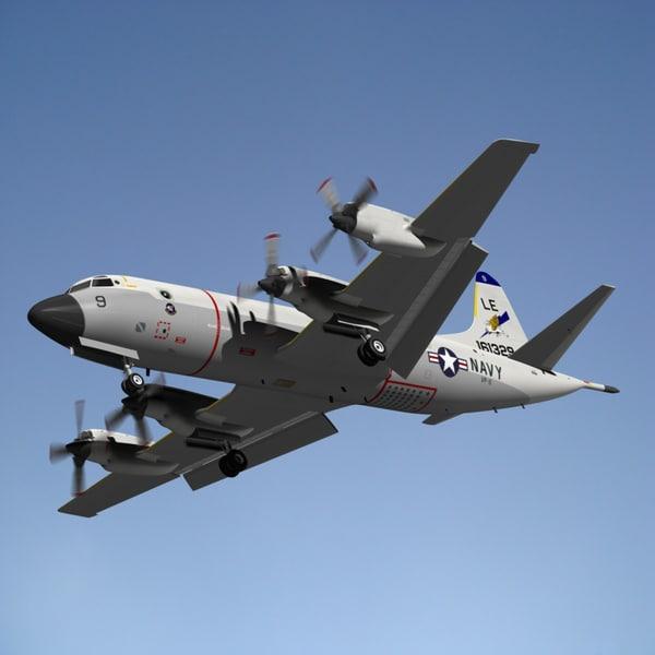 orion p3c navy 3d model