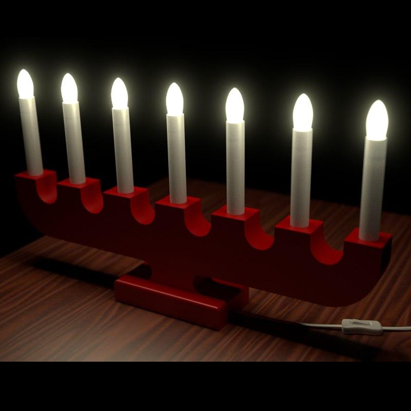 3d swedish christmas advent lights
