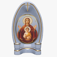 3d mother icon candlestick model
