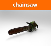 chainsaw weapon haigh 3d model