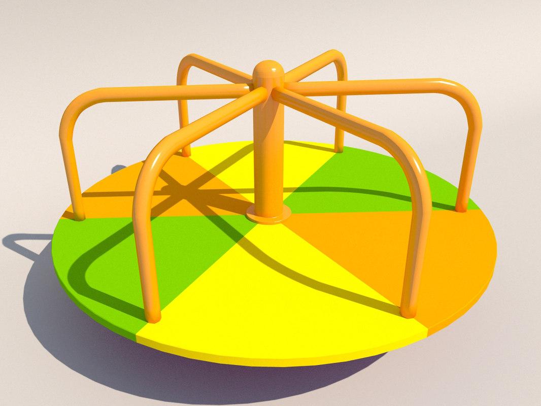 3d carousel playground model