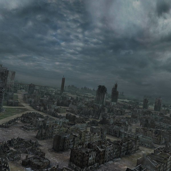 3d Ruined City Post Apocalyptic