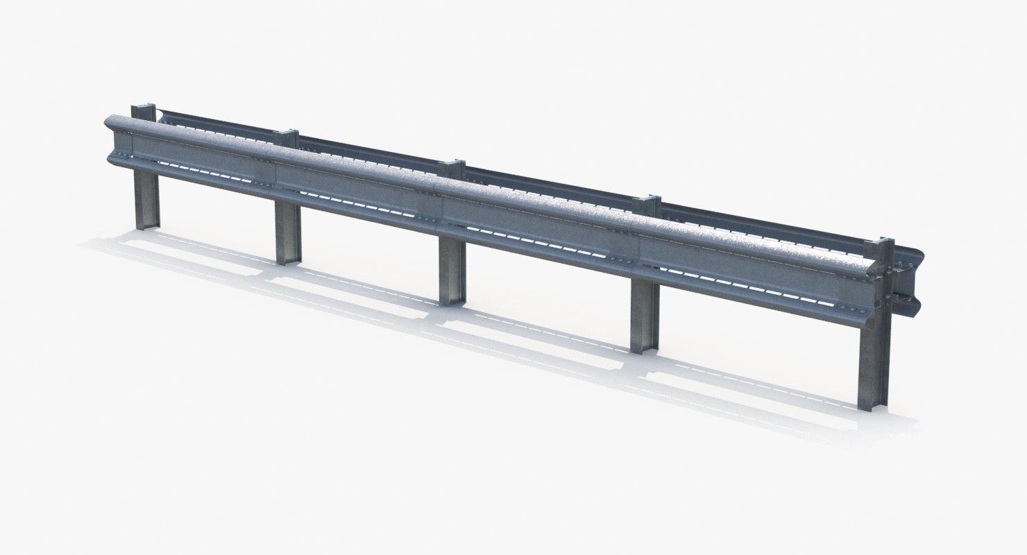 3d model highway guardrail