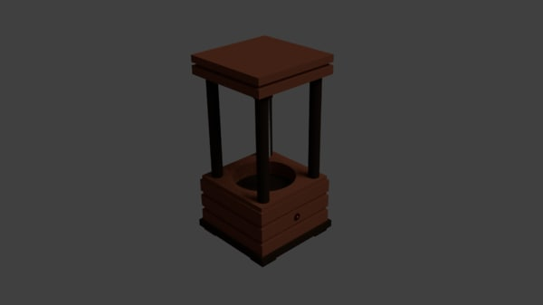 free classic wooden wind chime 3d model