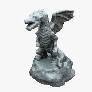 3d model dragon statue