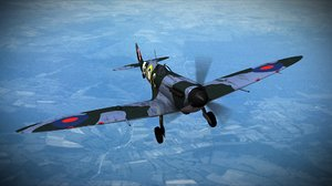 3d model of supermarine spitfire squadron aircraft