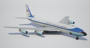 3d aircraft vc-137c boeing 707