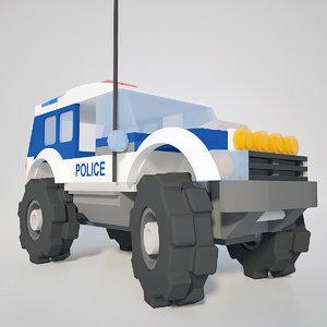ready police car 3d 3ds