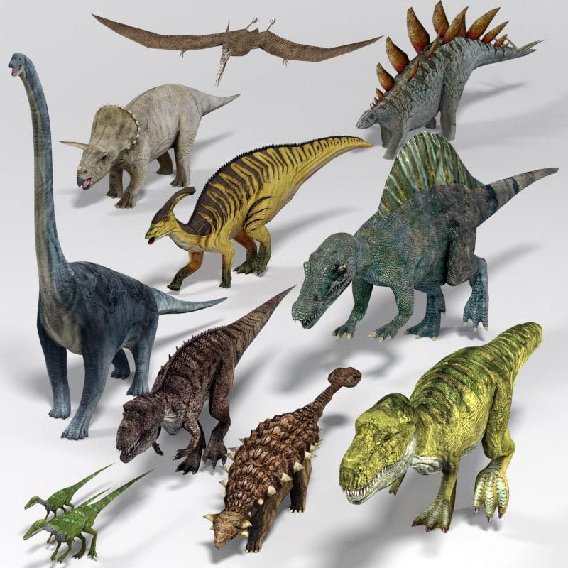 3d model dinosaur pack