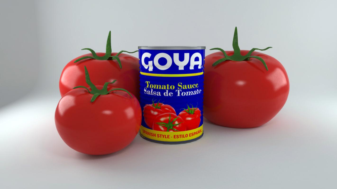 canned tomato goya 3d model