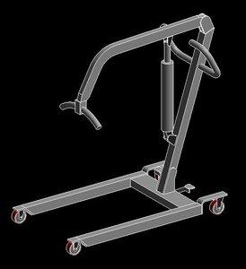 patient lift 3d model