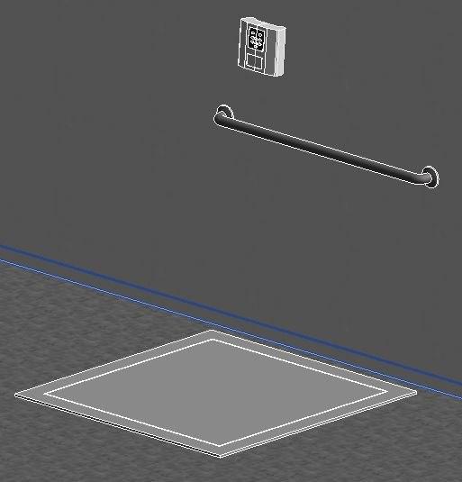 3d model of floor scale recessed