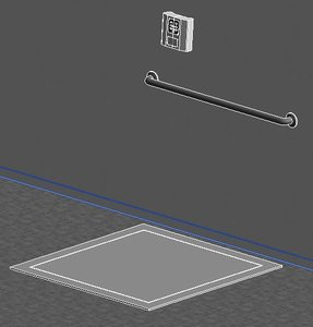 3d model of floor scale recessed