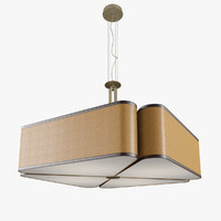 oasis quadrifoglio ceiling light 3d obj