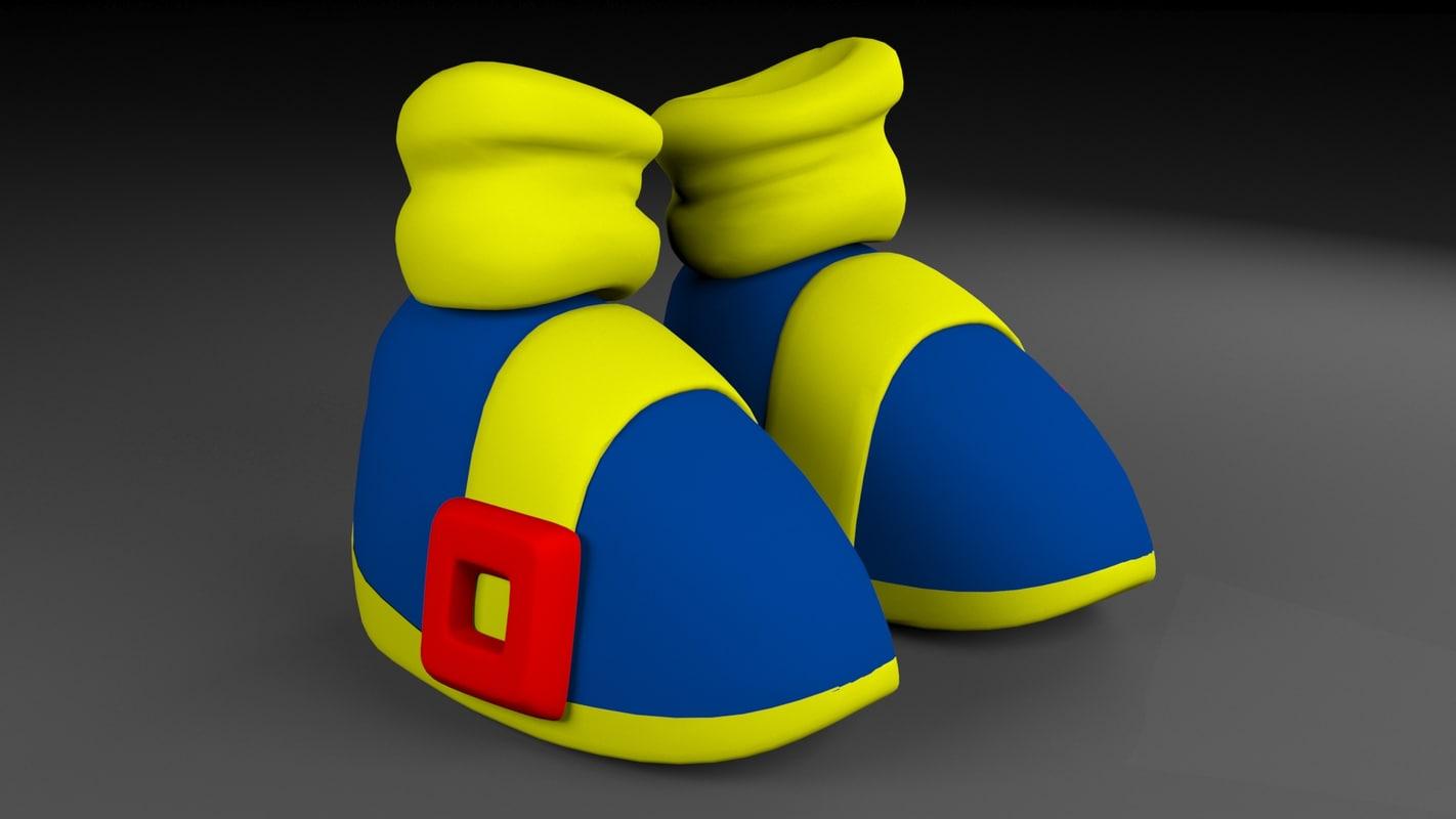 toon shoes 3d obj