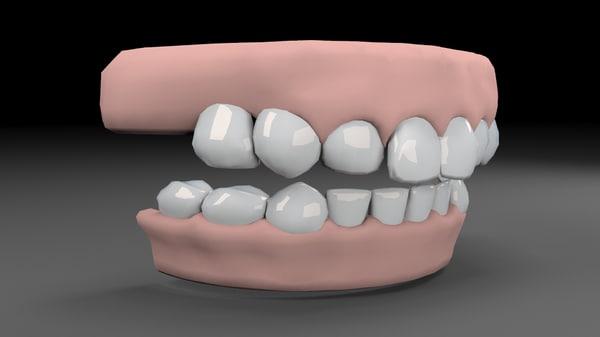 teeths obj