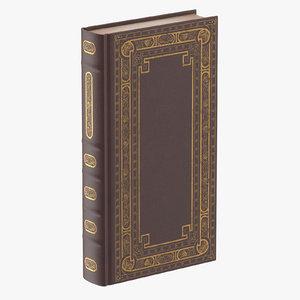 classic book 02 standing 3d c4d
