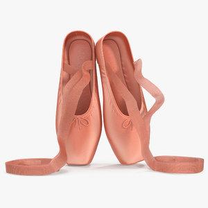 pink ballet shoes 3d 3ds