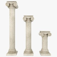 column 04 3 sizes 3d obj