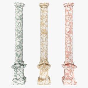 3d model of column 03 3 colors