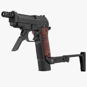 3d model beretta 93r