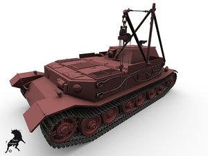 3d vk p bergepanzer model