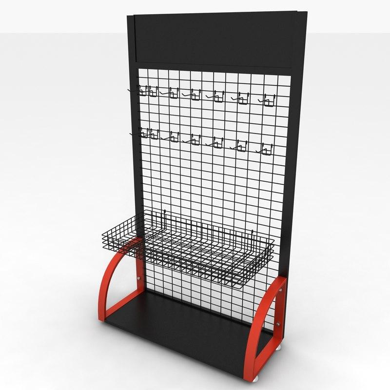 store rack 3d model