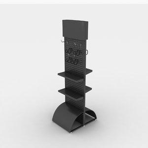 3d pegboard rack