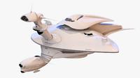 3d model sci-fi mothership ship