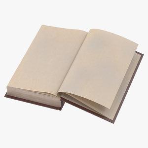 classic book 02 open 3d model