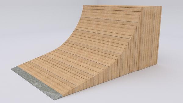 half skate ramp 3ds