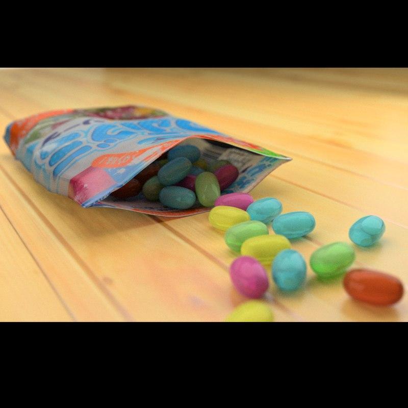 3d model bag candy