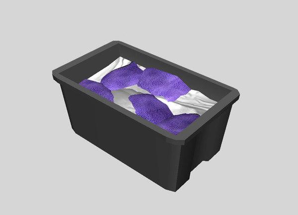 3d plastic tub rags