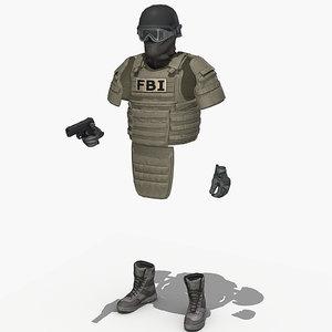 3d swat helmet vest
