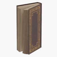 classic book 02 standing 3d model