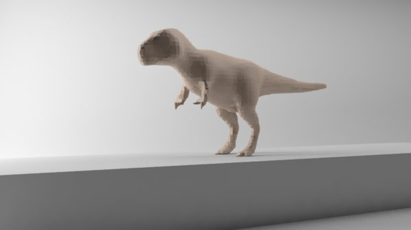 3d dinosaur rigged model