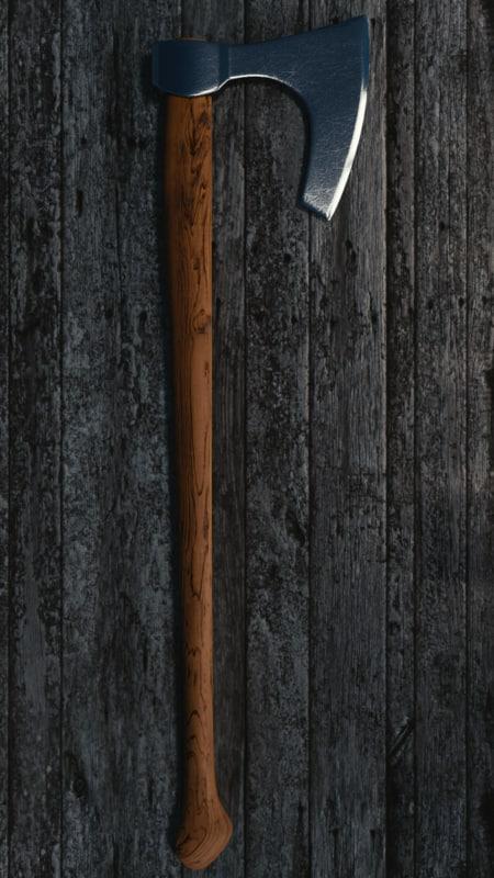 3d blend slavic axe