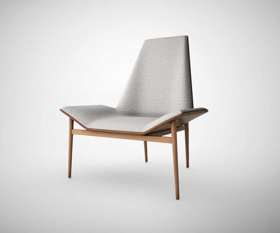 kent lounge chair 3d model