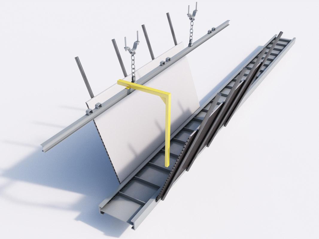 mining conveyor belt coal 3d model