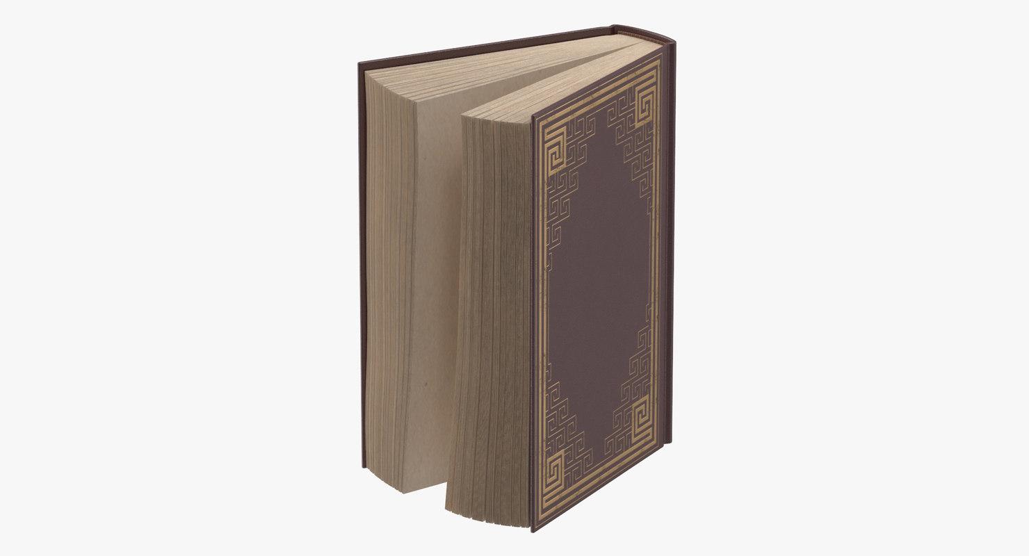 classic book 03 standing 3d model