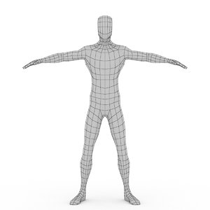 3d model male body base mesh