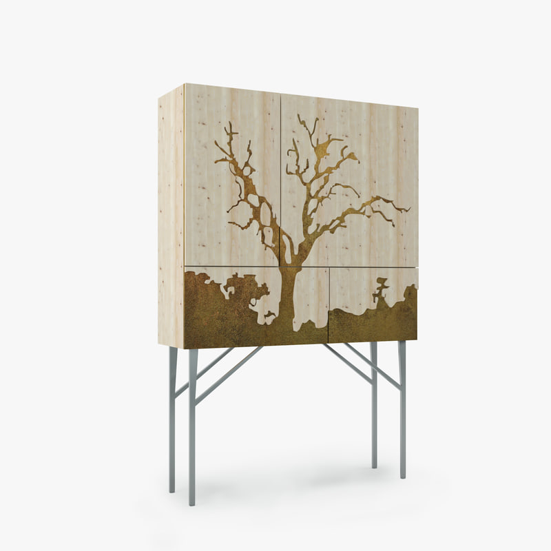 cabinet tree 3d 3ds