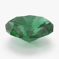3d emerald model