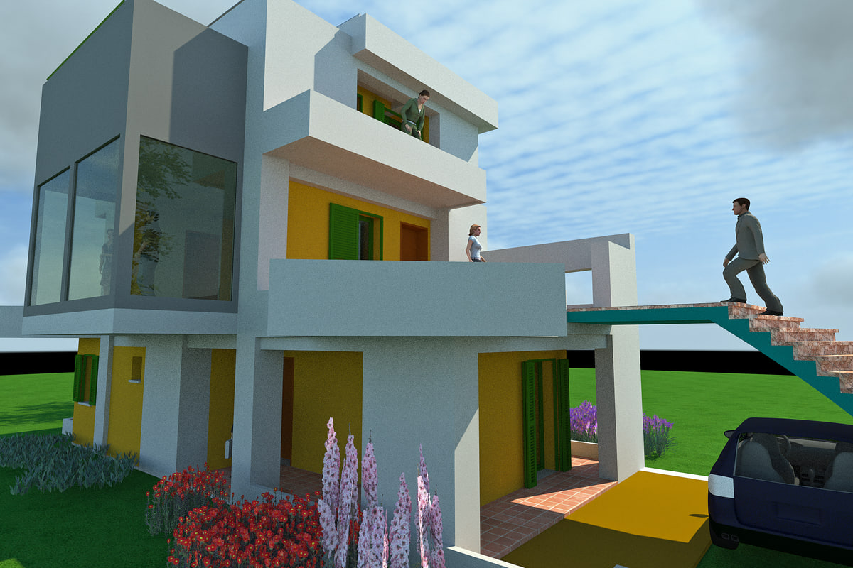 3d house reinforced concrete