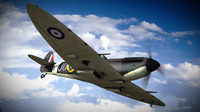 supermarine spitfire squadron aircraft 3d lwo