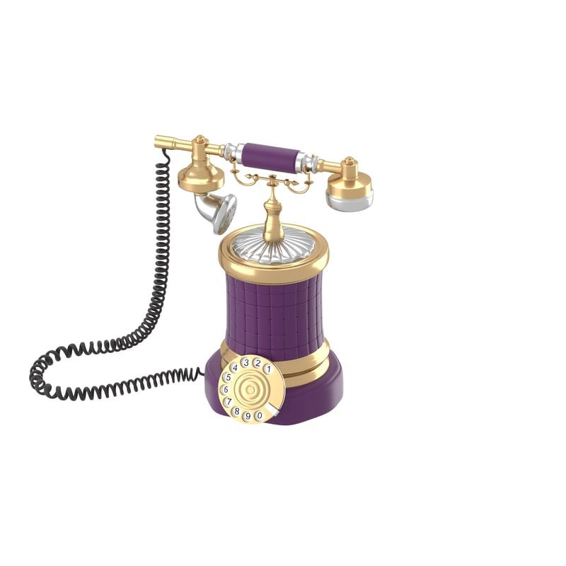 retro style phone 3d model