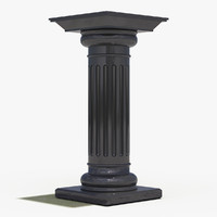 3d doric order decorate item